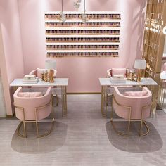 beauty Room salon - nail table manicure table and chair set table for nail salon Home Beauty Salon, Home Nail Salon, Nail Salon Design, Hair Salon Interior, Nail Salon Decor, Salon Interior Design, Beauty Salon Decor, Interior Design Software, Beauty Salon Design