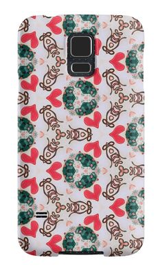 """""""Seamless pattern """"Abstract figures"""""""" Samsung Galaxy Cases & Skins by floraaplus 