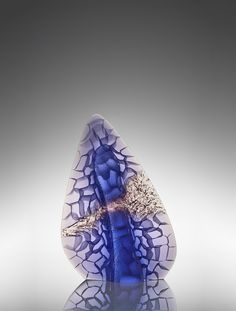 Artist: Michael Behrens  Title: Seaforms 2016-201 Process: Kiln Cast glass Size: 19.7 x 14.2 x 4.3 Inches Year: 2016 Please contact the gallery for pricing  Habatat Galleries 248.554.0590 – info@habatat.com