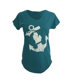 * Anchored in Michigan Tee Teal