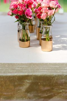 glittered table