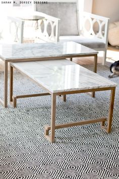 Box Frame Coffee Table MarbleAntique Bronze Apartment Things - Box frame coffee table marble top