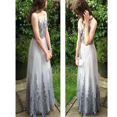 Sexy Prom Dress,V-Neck Prom Dress,Appliques Prom Dress,Evening Dress