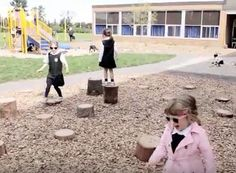 Daily outdoor play Joan of Arc Academy   Natural playground Pre-k to grade 2
