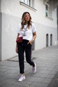 68238646a58 black palms streetstyle sporty look reebok club c 85 gucci edited the  revolution is female shirt