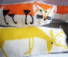 felt cafe: wee easy stuffed animals project, fabric crayons