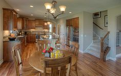 Would you like to cook dinner in this kitchen from @lennarminnesota complete with beautiful wood floors?
