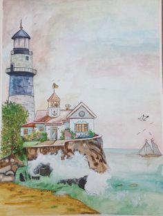 Suluboya çalışmam..❤️❤️  #watercolor #suluboya #sanat #resim