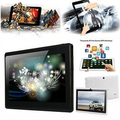 """7"""" A33 Google Android 4.4 Quad Core Dual Camera 8GB Tablet PC WiFi Bluetooth"""
