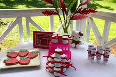 strawberry party favors