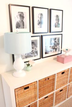 Nice and clean look for entryway storage, dimensions fit small space! Also great for clothing storage in nursery   alamode: Danielle Oakey Interiors- Expedit shown with coordinating baskets