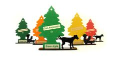 peeing dog air freshener tree by treet. would be cute & funny in a bathroom.