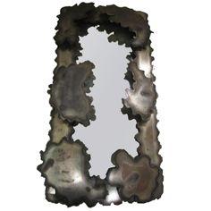 Fabulous Brutalist Paul Evans Style Mirror Mid-century Modern | 1stdibs.com