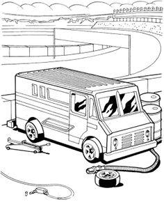 Repair Car Hot Wheels Coloring Page