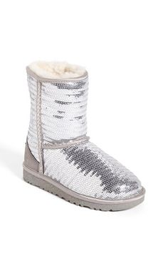 UGG® Australia 'Classic Short Sparkle' Boot (Little Kid & Big Kid) available at #Nordstrom