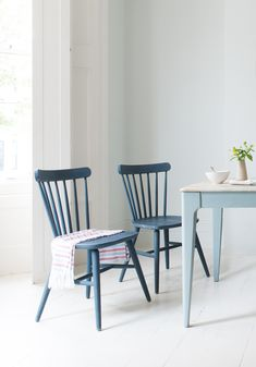Bloom through the gloom with a brace of good yellow chairs. Then dip into the Natterbox palette to complete your collection. Painted Chairs, Painted Furniture, Chairs For Small Spaces, Used Chairs, Comfy Sofa, Wooden Dining Tables, Kitchen Chairs, Upholstered Dining Chairs, Upcycled Furniture
