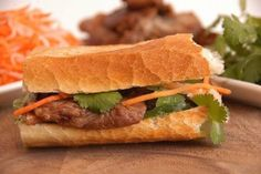 Bahn Mi......just had one of these wonderful sandwiches, and I will be wanting more...yum!
