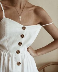 Button Down White Maxi