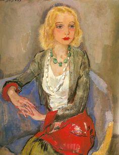 Portrait of Karin Leyden by Jan Sluijters (Dutch 1881-1957)