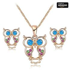 RARITYUS Christmas Gift Fashion Lovely Genuine Austrian Crystals Rose Gold Owl Earrings Pendant Necklace sets Jewelry. ♥Note:JEWELRY RARITYUS is the unique online seller, we have no branch store, PLEASE make sure that you buy from all for you JEWELRY RARITYUS to protect your legal benifits. ♥Welcome to JEWELRY RARITYUS and hope you find special gift for your loved ones, e.g.Lover,girlfriend, fiancee, wife, mother, couple, Valentine or just a friend,etc,It expresses your love to them. ♥We…