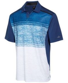 Greg Norman For Tasso Elba Men's Performance Sun Protection Polo, Only at Macy's - Black XXL