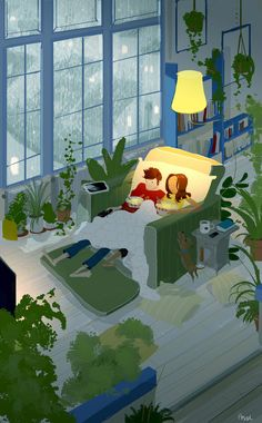 Husband's Illustrations Beautifully Capture The Cozy Feeling Of Couple Illustration, Illustration Art, Stock Design, Pascal Campion, Couple Drawings, Couple Art, Art Design, American Artists, Love Art
