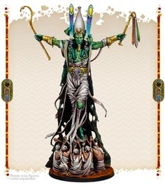 Painted by Angel Giraldez Thousand Sons, Pisces, Minis, Egyptian, Miniatures, Angel, God, Painting, Figurine