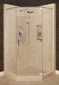 Could Try Angled Corner Shower