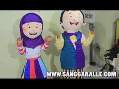 Hafiz Dan Hafiza Si Badut Maskot Cute yang Lucu