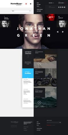 Homemuse gallery by sergei gurov, via behance website design layout Website Design Layout, Web Layout, Layout Design, Website Designs, Flat Ui, Branding, Gui Interface, Interface Design, Template Web