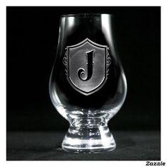 Family Crest Monogrammed Glencairn Glass