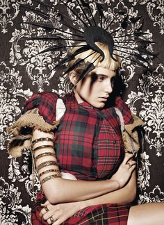 Feather Headdress by Phillip Treacy. Great fashion shot too.