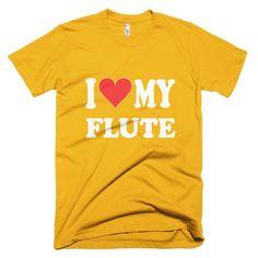 I Love My Flute, men's t-shirt