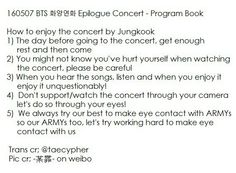 Bts  Epilogue Concert  Program Book How To Enjoy The