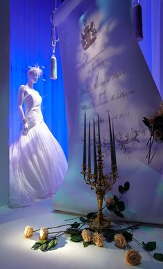 Enormous invitation to the Royal Wedding window display realised by Just So Ltd.