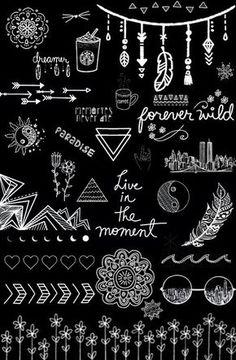 black and white, wallpaper, overlays transparent, tumblr ...