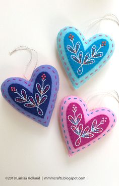 mmmcrafts - True Love bonus ornament included Lord a-Leaping pattern is now available #feltcrafts