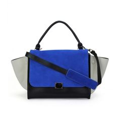 Color Block Trapeze Satchel ($50) ❤ liked on Polyvore