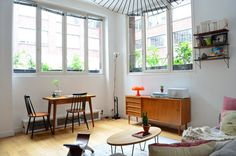 Departamento pequeño 2 ambientes con decoración nórdica vintage