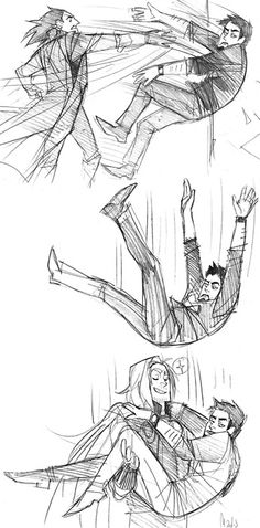 """Tony's face...and Thor being all like, """"Foolish Man of Iron...you should not jump from buildings. I will mot always be here to save you with my awesomeness."""" And Tony's all like, """"Omg Thor. Your stupid brother threw me out."""""""