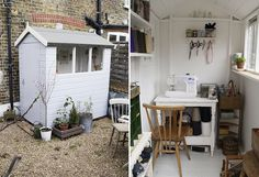 I am seriously excited about this idea, I think it would work fine!  I had never thought about doing an outdoor sewing room!