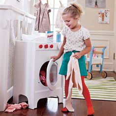 Spin Cycle Washer in Wooden Toys & Blocks | The Land of Nod #NodWishlistSweeps