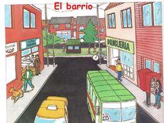 Image result for imagenes de un barrio caricaturas