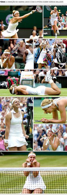 Mosaico Sabine Lisicki tênis comemoração (Foto: Editoria de Arte)