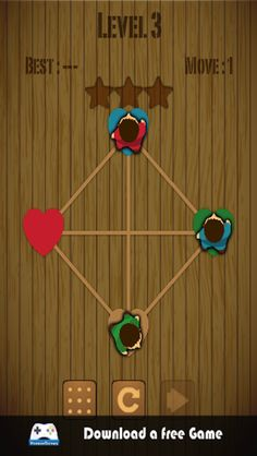 Where is my valentine is an interesting puzzle game. It's free.  Install it and have fun. To install this games check your itunes and visit https://itunes.apple.com/us/app/wheres-my-valentine/id736806618?ls=1&mt=8 .If you are an android user, just visit https://play.google.com/store/apps/details?id=air.couk.hamzagames.wheresmylove&hl=en to install it and have fun .