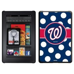 Washington Nationals - Polka Dots design on a Black Thinshield Case for Amazon Kindle Fire by Coveroo. $39.95. This hard shell polycarbonate case offers a slim fit form factor, while covering the back and sides of your Kindle Fire