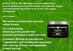 It Works Greens.. you are what you eat....