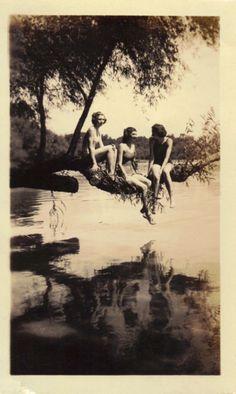 Grandma Jackie at Elbow Lake...and Pat Merit