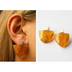 Amber Earrings, Amber Jewelry, Amber Stone, Modern, Minerals, Studs, Jewelry Design, Clay, Jewels
