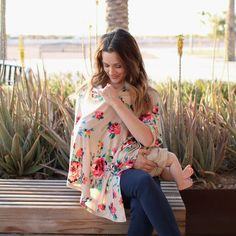 Desert Flower Nursing Poncho & Car Seat Cover